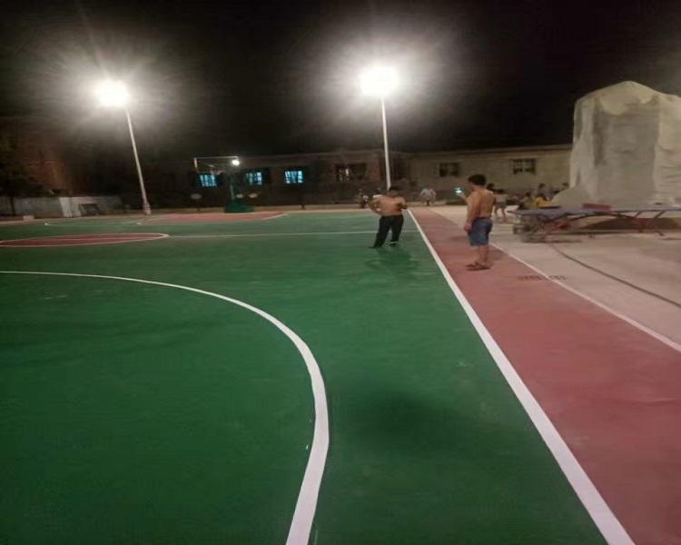 贵州硬地丙烯酸篮球场施工案例