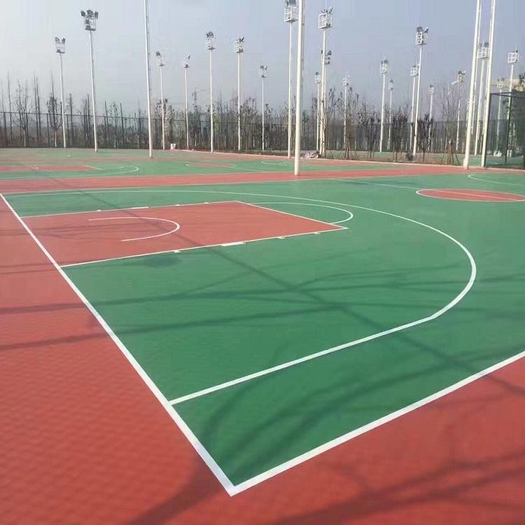 浙江湖州硅PU球场施工案例