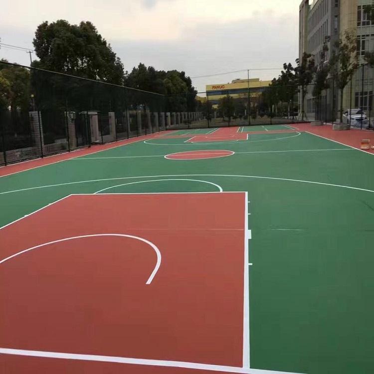 上海塑胶篮球场施工案例