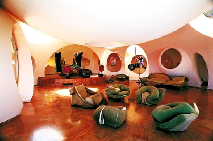 皮埃尔·卡丹的泡泡屋由Antti Lovag designrulz(4)