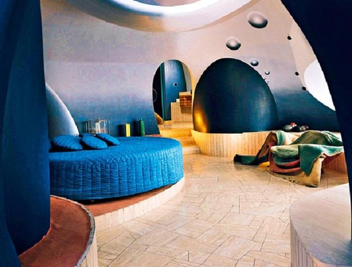 皮埃尔·卡丹的泡泡屋由Antti Lovag designrulz(5)