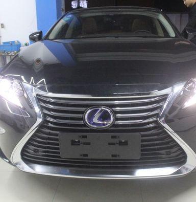 上海蓝精灵改车灯雷克萨斯ES350改装米石LED双光透镜