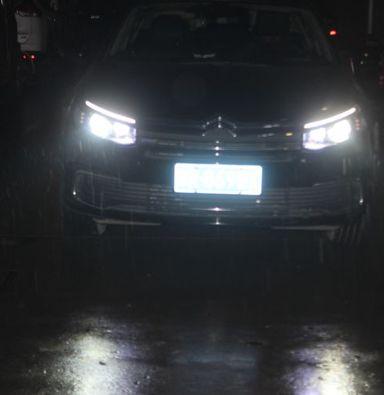 雪铁龙C5改奥兹母LED远光模组上海蓝精灵汽车灯光改装