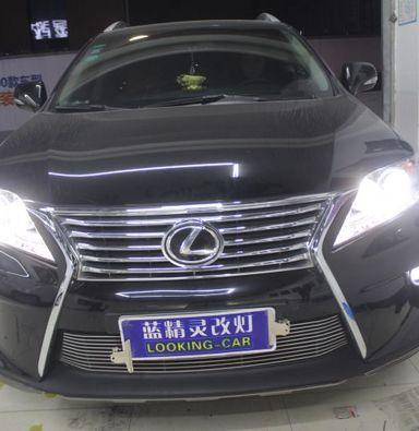 雷克萨斯RX350改车灯上海蓝精灵汽车灯光改装氙明双光透镜飞利浦氙气大灯