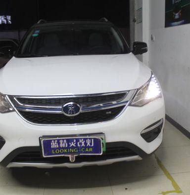 上海改LED车灯比亚迪宋改装智能米石LED透镜