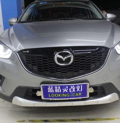 上海马自达CX5改车灯蓝定制海拉5透镜氙气大灯加日行灯