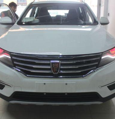 上海荣威RX5改车灯蓝定制双光透镜欧司朗氙气大灯加红色恶魔眼