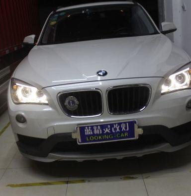 上海宝马X1升级大灯总成低配改装高配氙气车灯