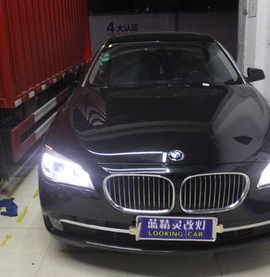 宝马7系车灯改装氙明透镜欧司朗氙气大灯