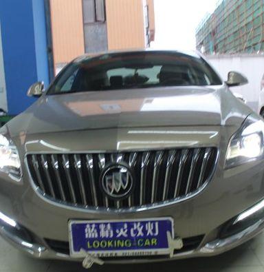 上海别克君威改车灯改装米石LED透镜