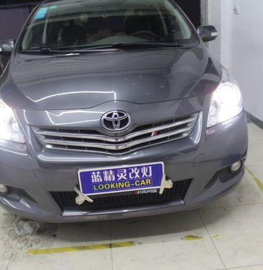 上海丰田逸致车灯改装蓝定制透镜欧司朗氙气大灯