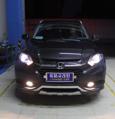 上海本田CRV车灯改装米石LED透镜