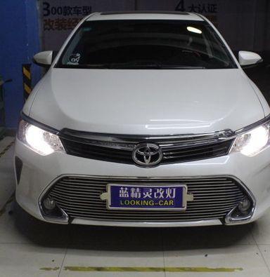 丰田凯美瑞车灯改装蓝定制透镜欧司朗氙气大灯