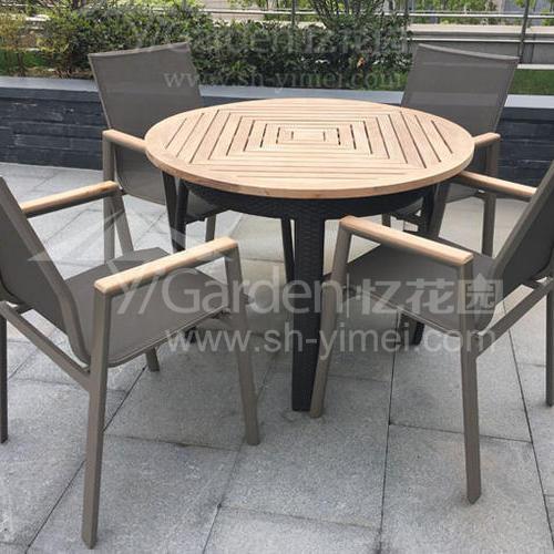 J01-071(1+4編藤桌椅)