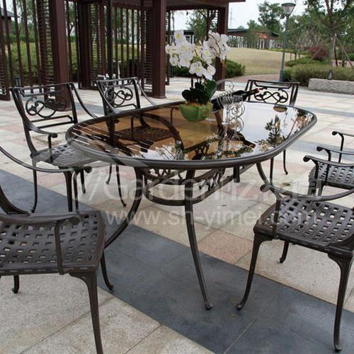 J04-006(1+6铸铝桌椅)