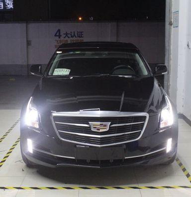 凯迪拉克ATS车灯改装蓝定制透镜欧司朗氙气大灯加日行灯上下齐亮