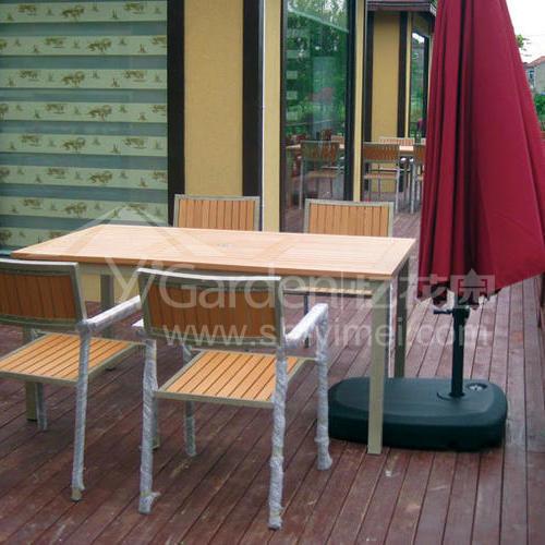 J06-015(塑木桌椅)