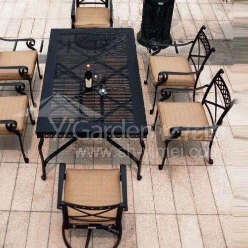 J04-009(1+6铸铝桌椅)