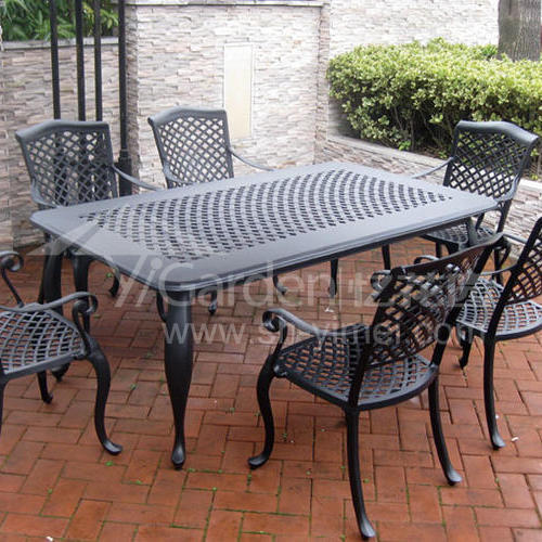 J04-005(1+6铸铝桌椅)