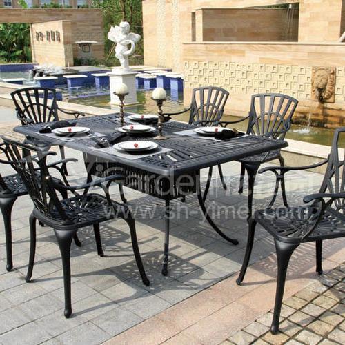 J04-007(1+6铸铝桌椅)