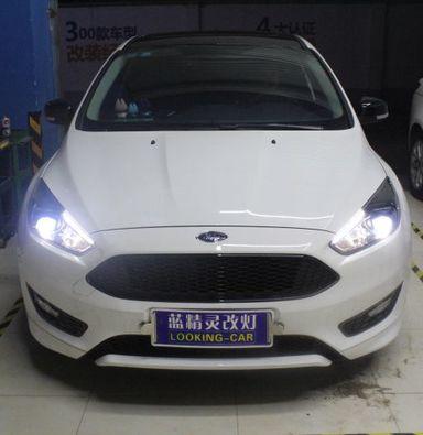 上海新福克斯车灯改装海拉5透镜飞利浦WHV+氙气大灯