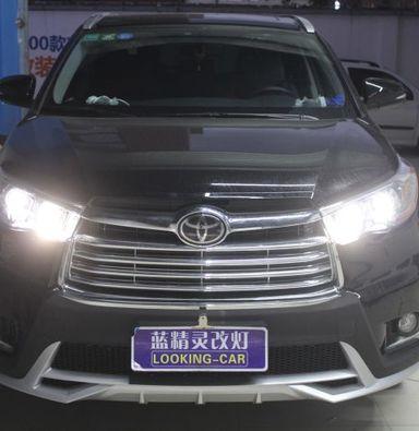 上海蓝精灵透镜改装丰田汉兰达改装海拉6透镜欧司朗氙气大灯