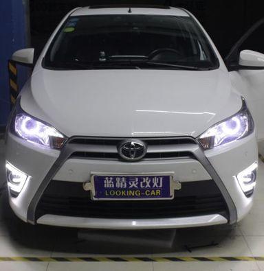 上海丰田致炫透镜改装海拉5透镜欧司朗氙气大灯加白色天使眼