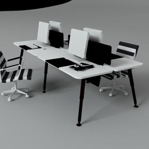 时尚员工桌