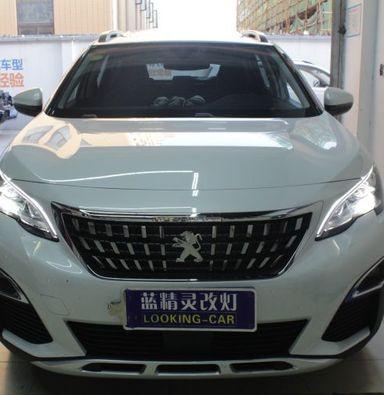 上海标致4008改装米石LED车灯智能双光透镜模组