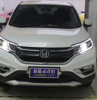 上海本田CRV前大灯改米石智能双光透镜LED车灯