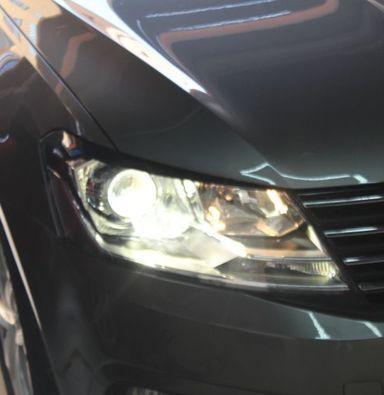 大众朗逸改装LED车灯定制睛明海拉5双光透镜欧司朗氙气灯泡超白远光灯