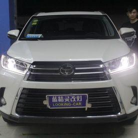 丰田汉兰达卤素车灯升级立盯OLED车灯双光透镜模组