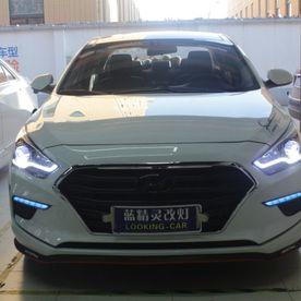 现代名图卤素车灯升级LED车灯立盯OLED双光透镜大灯模组