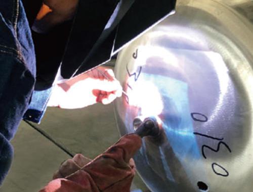 东方锅炉现场焊接实验