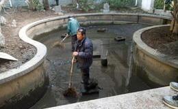 上海景觀花池魚塘河道淤泥清理