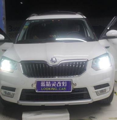 上海车灯改装 斯柯达野帝升级原装海拉5透镜套装
