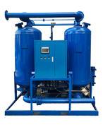 Blast heat regeneration adsorption dryer