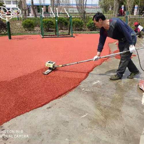 浦东小区塑胶地坪施工