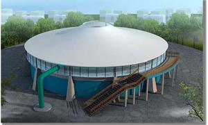 PTFE建筑膜材广泛应用于水处理项目
