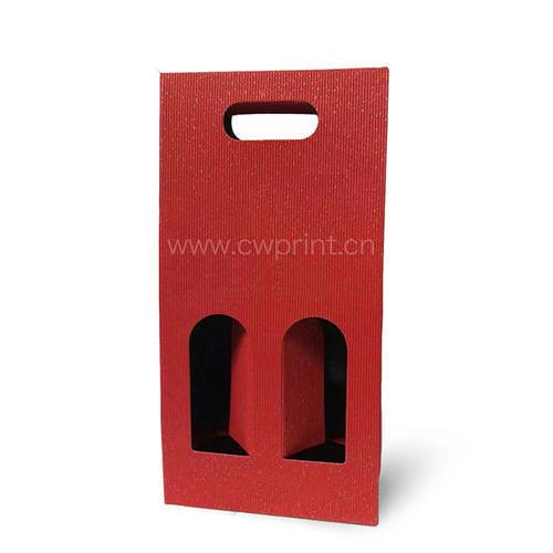 红色瓦楞纸盒