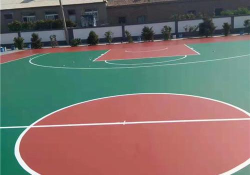 上海xx小区硅pu篮球场