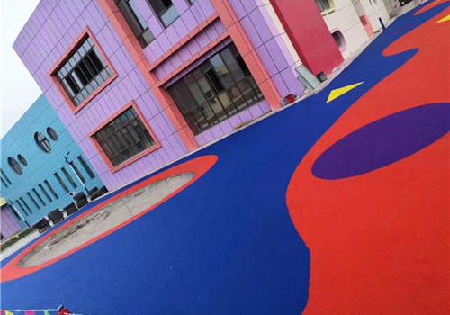 上海安亭xxx幼儿园塑胶地坪