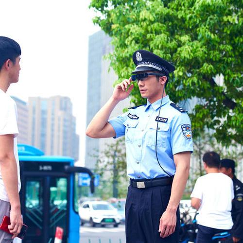 测温眼镜——海宁公安检查站