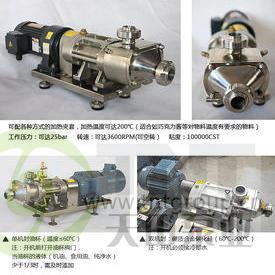 油气混合输送双螺杆泵 高粘度油脂双螺旋平行泵