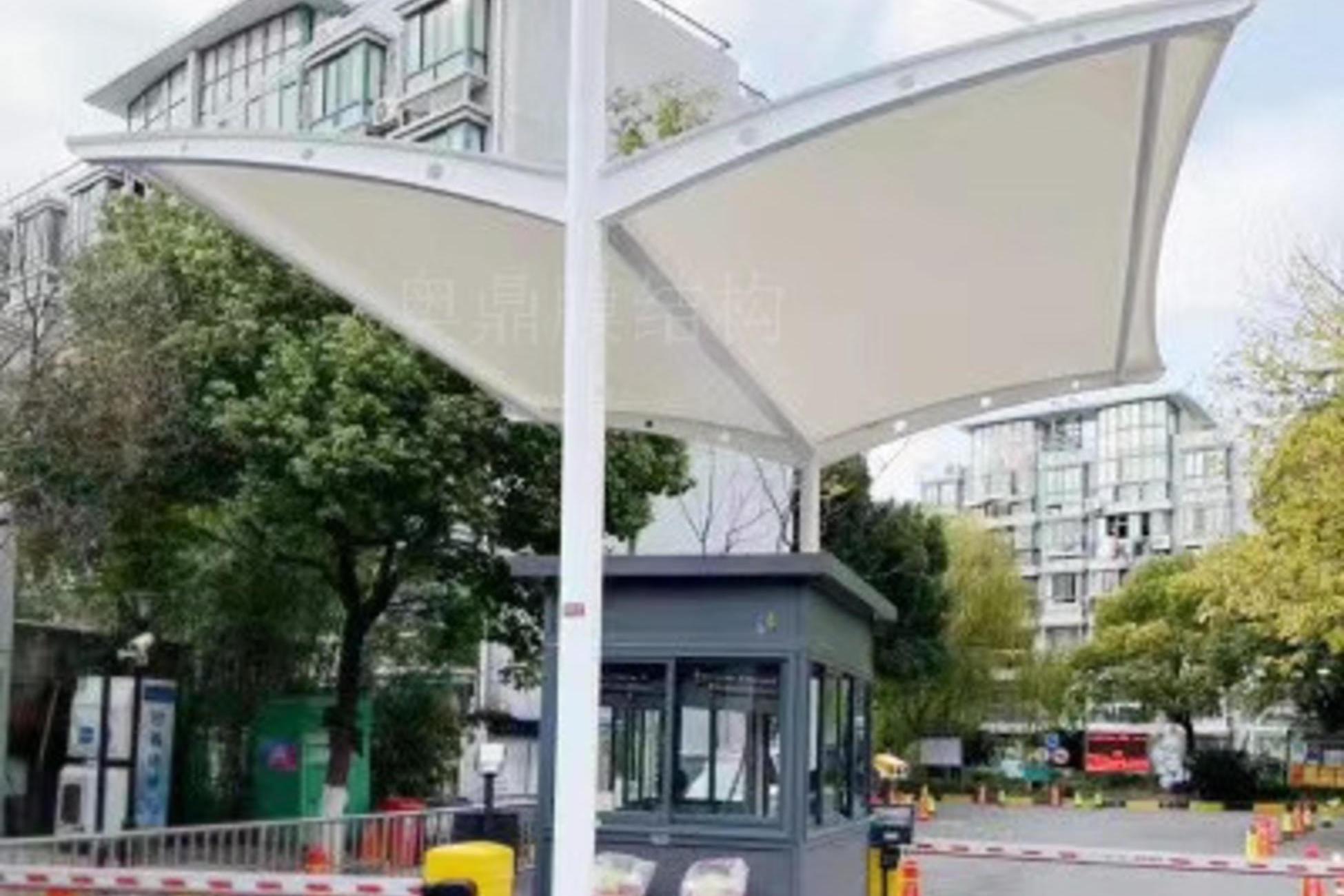 福田岗亭出入口收费膜结构雨棚