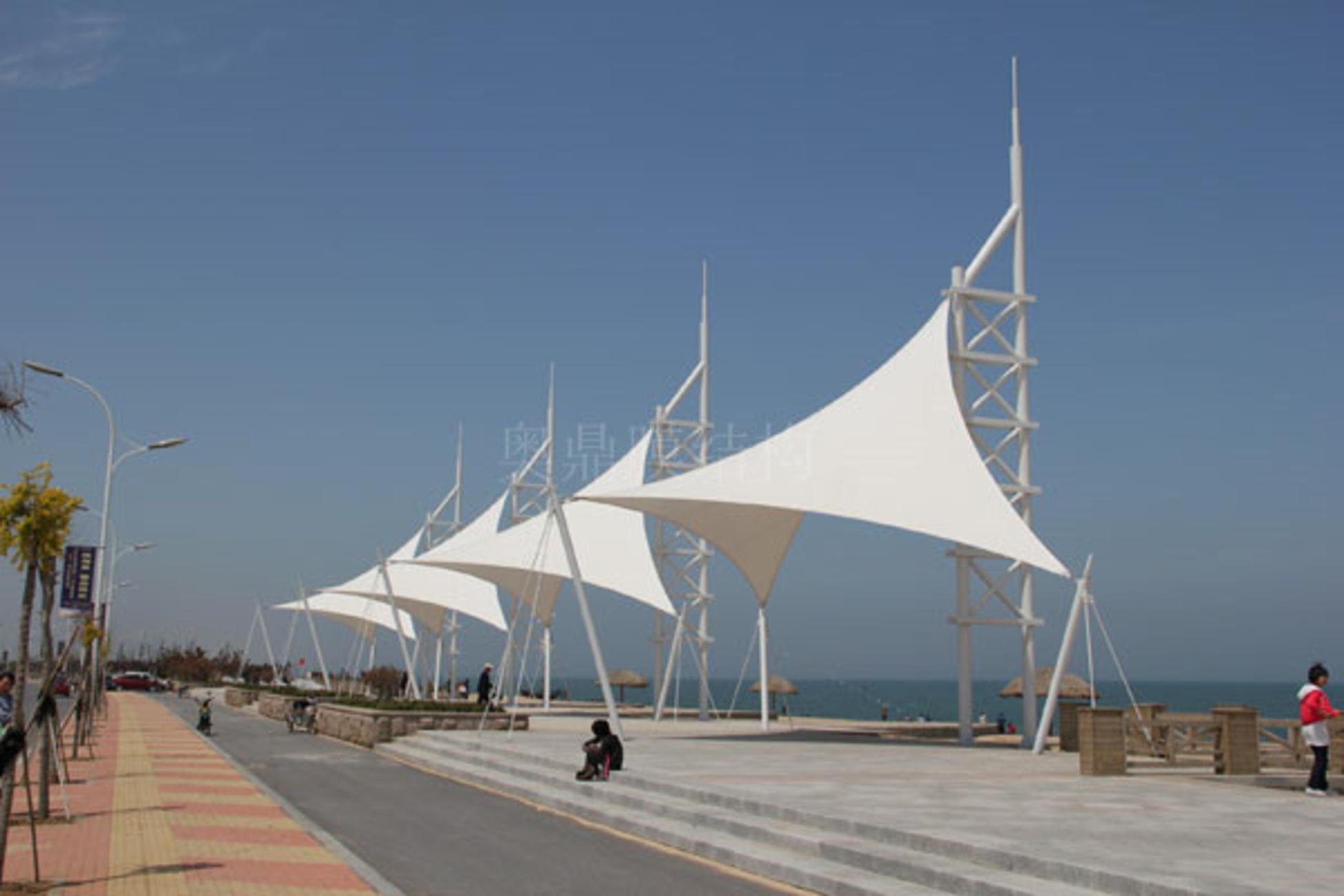 海边景观膜结构雨棚