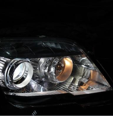 奔驰GLK改ZKW双光透镜氙气灯 上海蓝精灵改GLK300车灯
