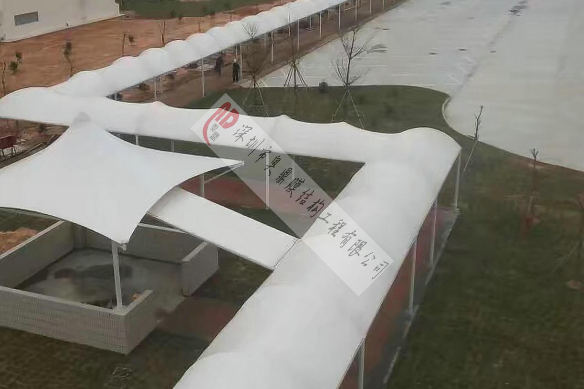 广州宝洁公司大型走廊和车棚膜结构