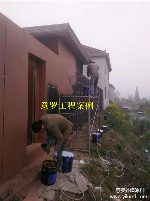 泰州1200平方外墙天然真石漆施工案例