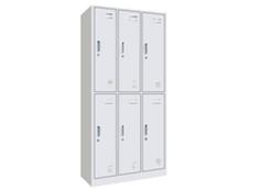 钢制六门更衣柜RY-GYG0005